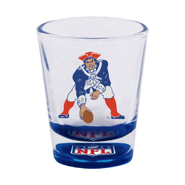 Patriots Throwback Bottoms Up Shot Glass 2oz.