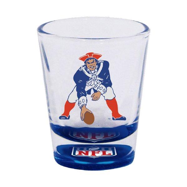 Patriots Throwback Bottoms Up Shot Glass 2oz.