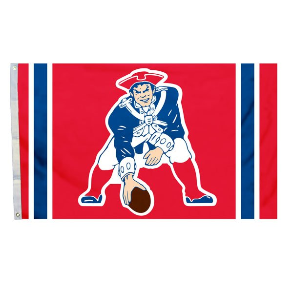 Patriots 3 x 5 Throwback Flag-Red