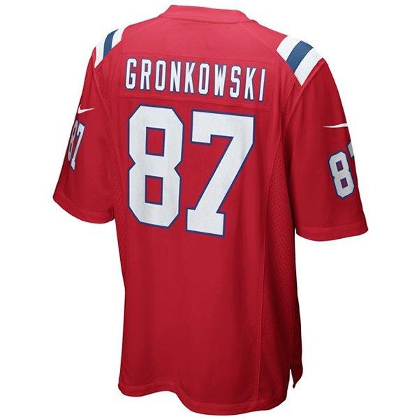 Nike Rob Gronkowski 87 Throwback Game JerseyRed