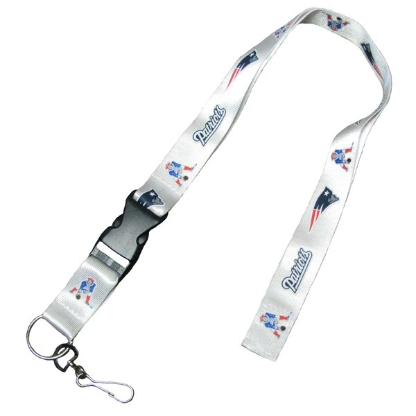 Patriots Multi-Logo Lanyard-White