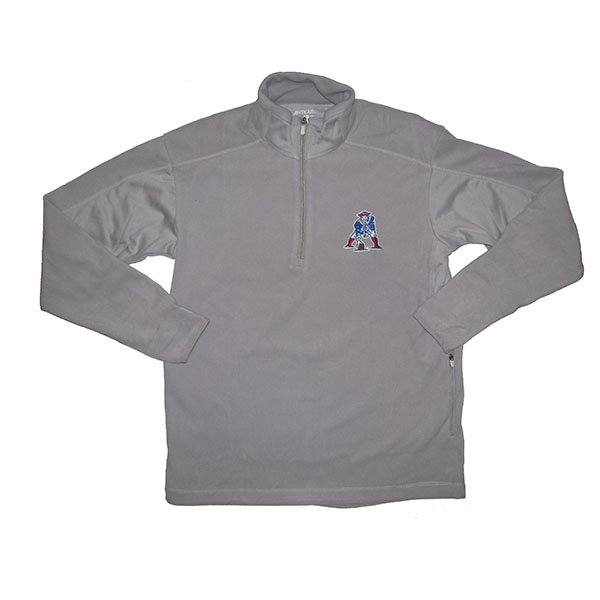 Throwback Frost 1/4 Zip Fleece-Silver