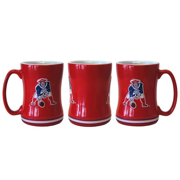 Patriots Throwback 15oz Sculpted Relief Mug