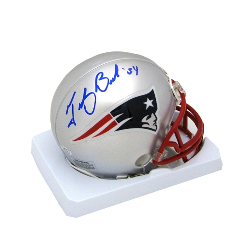 Tedy Bruschi Autographed Mini Helmet