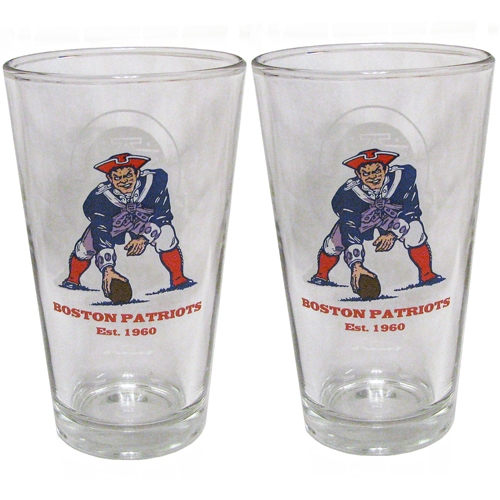 Boston Patriots 2pk Glass Set