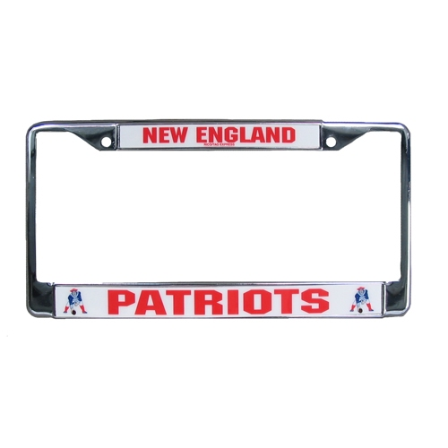 Throwback Chrome License Plate Frame