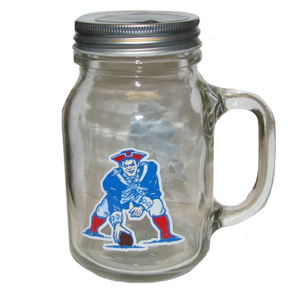 Patriots Throwback Mason Jar