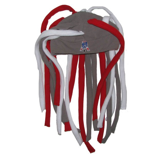 Patriots Throwback 47 Brand Locks Rasta Hat-Gray