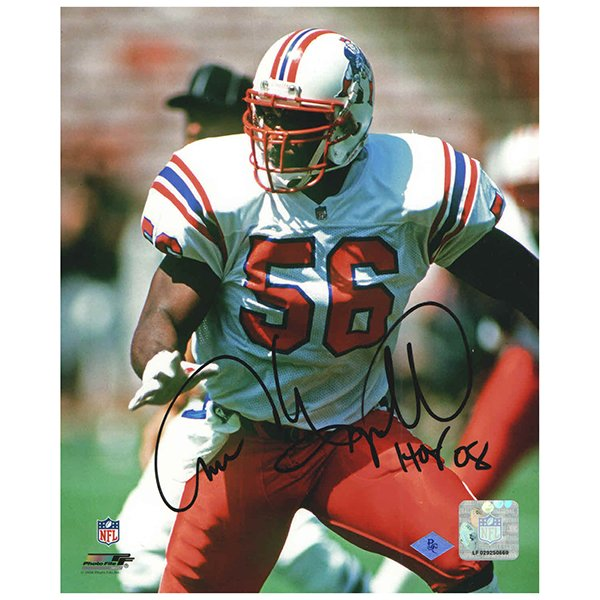 Andre Tippett Autographed Hall of Fame 8x10 Photo