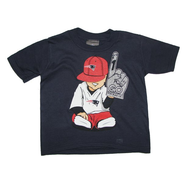 Toddler Baby Fan Tee-Navy