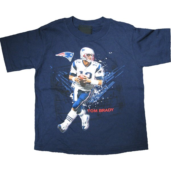 Toddler Tom Brady Action Tee-Navy