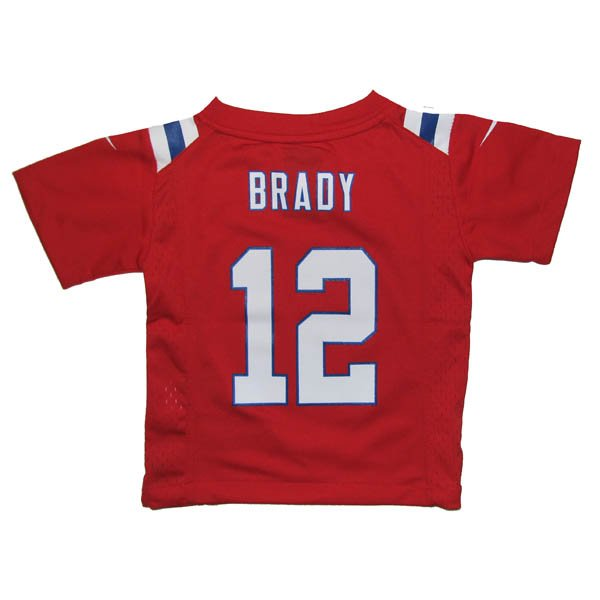 Toddler Nike Tom Brady Throwback Jersey-Red