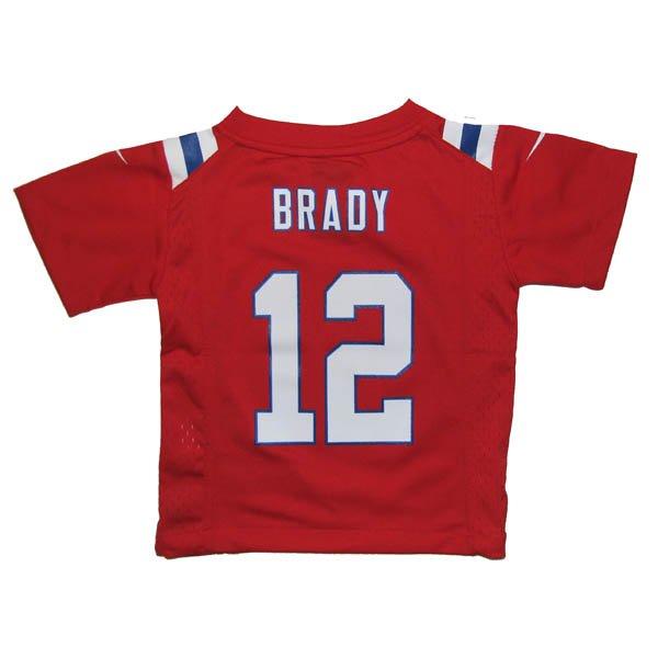Toddler Nike Tom Brady Throwback Jersey-Red