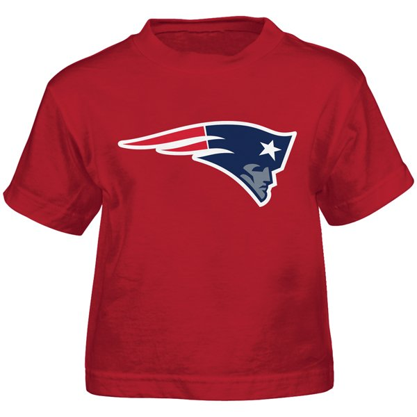 Toddler Patriots Logo Tee-Red