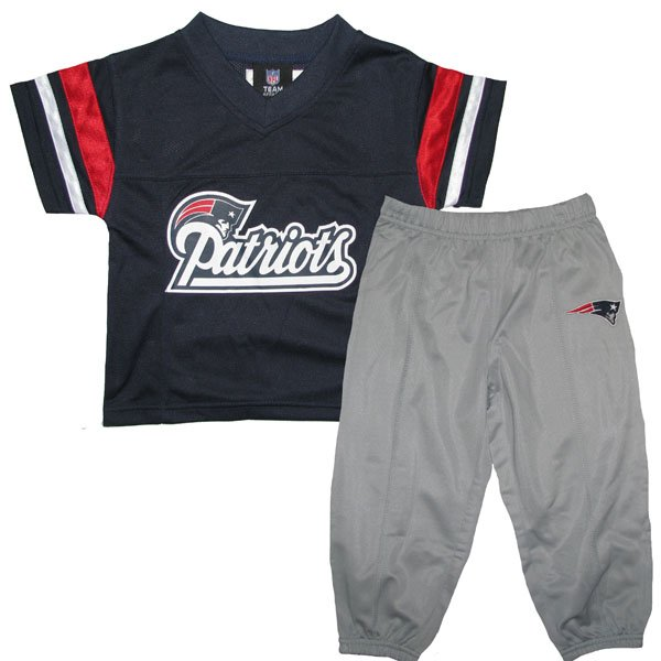 Patriots Toddler Football Jersey/Pant Set