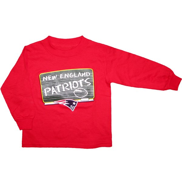 Toddler Schoolhouse Long Sleeve Tee-Red
