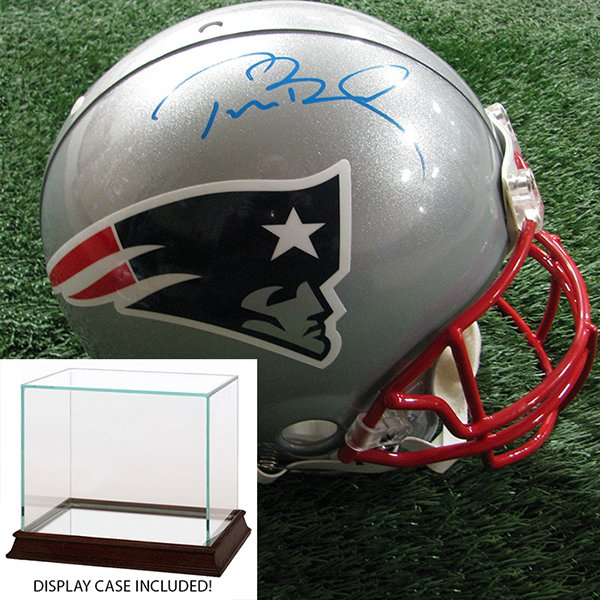 Autographed Tom Brady Authentic Helmet w/Case