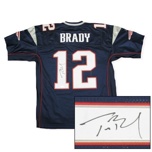 Tom Brady Signed Authentic Home Jersey