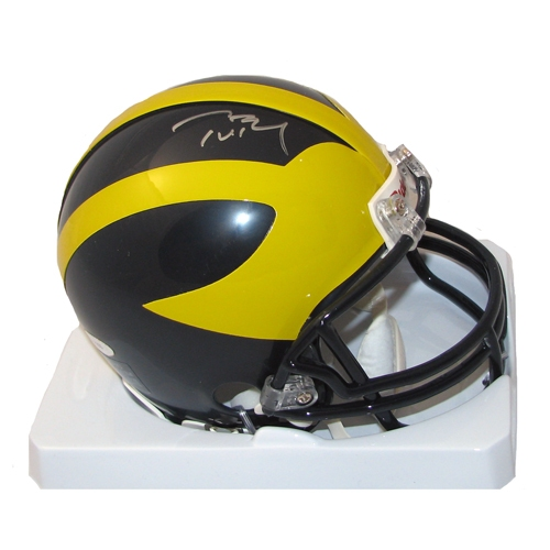 Tom Brady Signed Michigan Mini Helmet