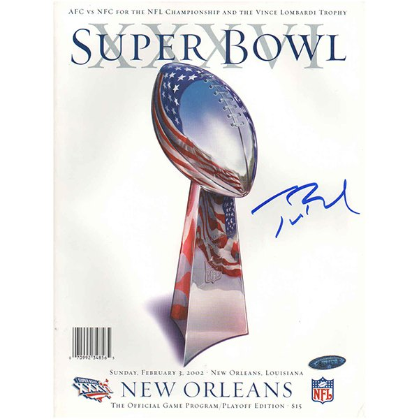 Autographed Tom Brady Super Bowl 36 Program