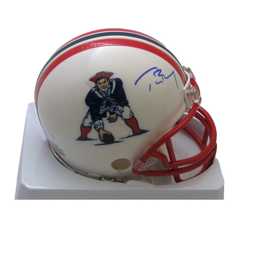 Tom Brady Signed Throwback Mini Helmet
