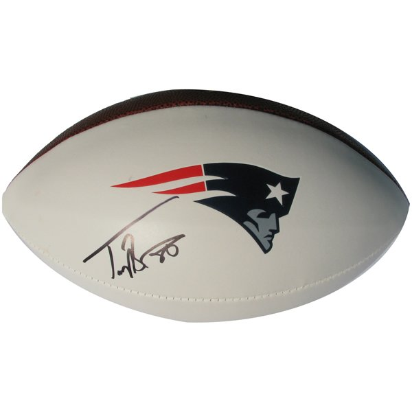 Troy Brown Signed 3 Panel Ball
