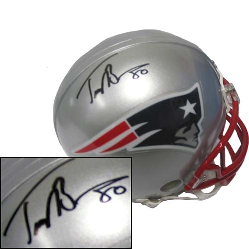 Troy Brown Signed Mini Helmet