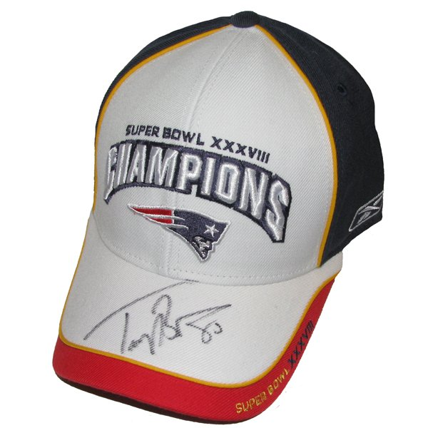Troy Brown Signed SB38 Champs Cap