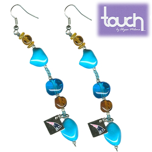 Patriots Turquoise Earrings