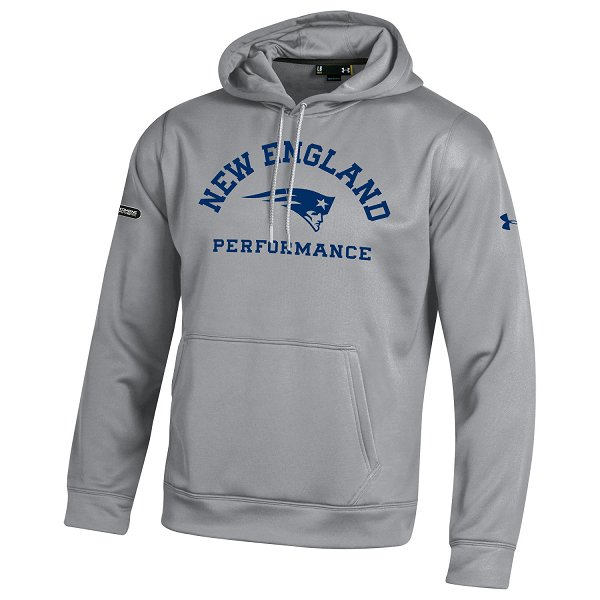 NFL Combine Patriots Armour Fleece Hood-Gray