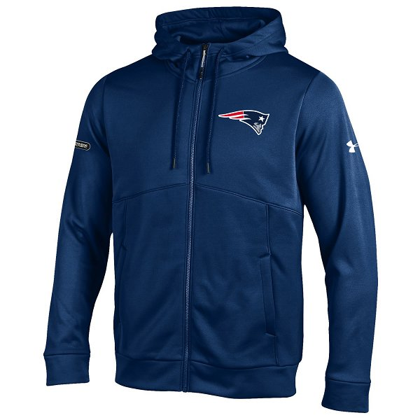 NFL Combine Armour Fleece Full Zip Hood-Navy
