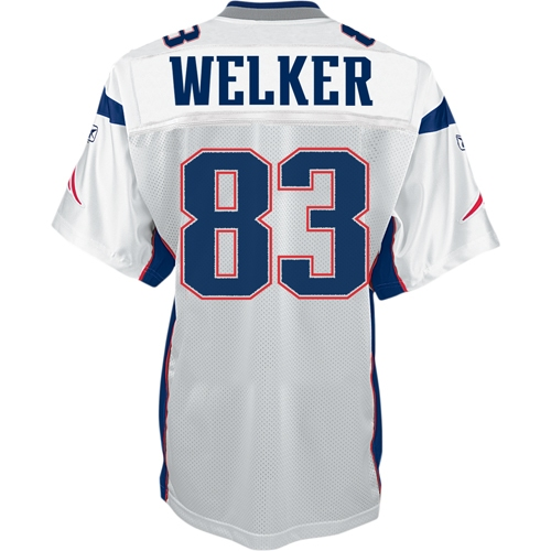 Wes Welker #83 Authentic Away Jersey