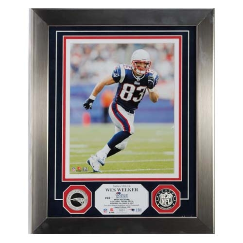 Wes Welker Silver Framed PhotoMint