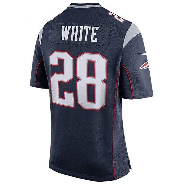 Nike James White #28 Game Jersey-Navy