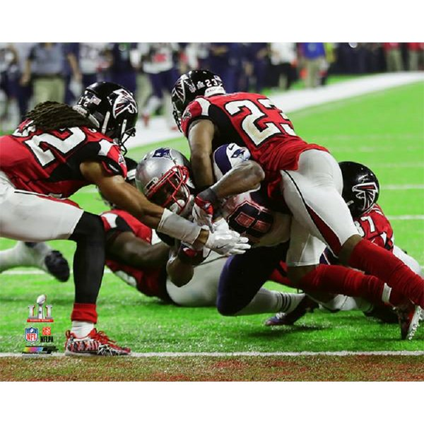 Super Bowl LI White Touchdown 8x10 Photo