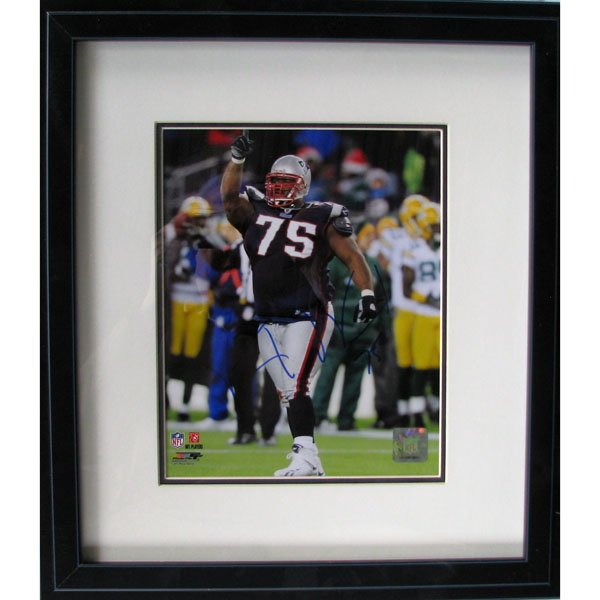 Vince Wilfork Autographed Framed Photo