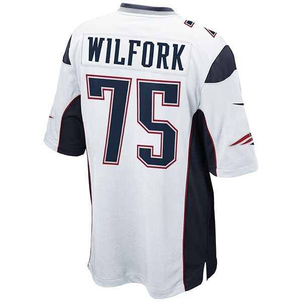 Nike Vince Wilfork #75 Game Jersey-White