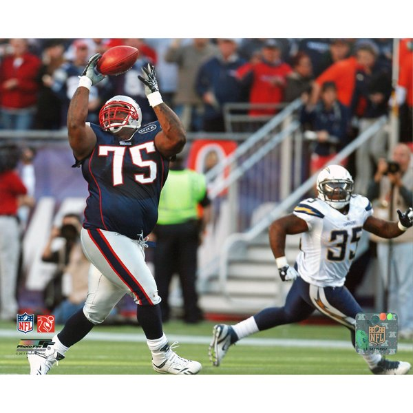 Vince Wilfork Interception 8x10 Carded Photo