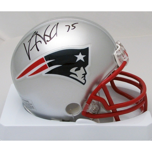 Vince Wilfork Signed Mini Helmet