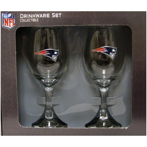 Patriots 14oz Wine Glass Set