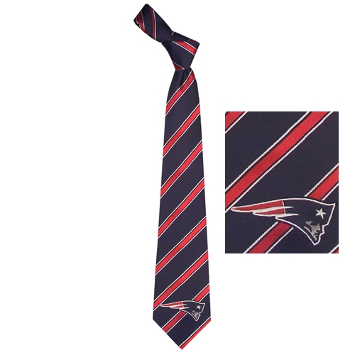 Patriots Woven Poly Striped Tie