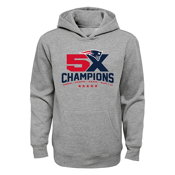 Youth 5X Champs Hood-Gray