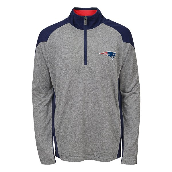 Youth DNA 1/4 Zip Top-Gray/Navy