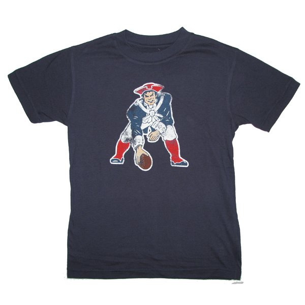 Youth Throwback Distressed Tee-Navy