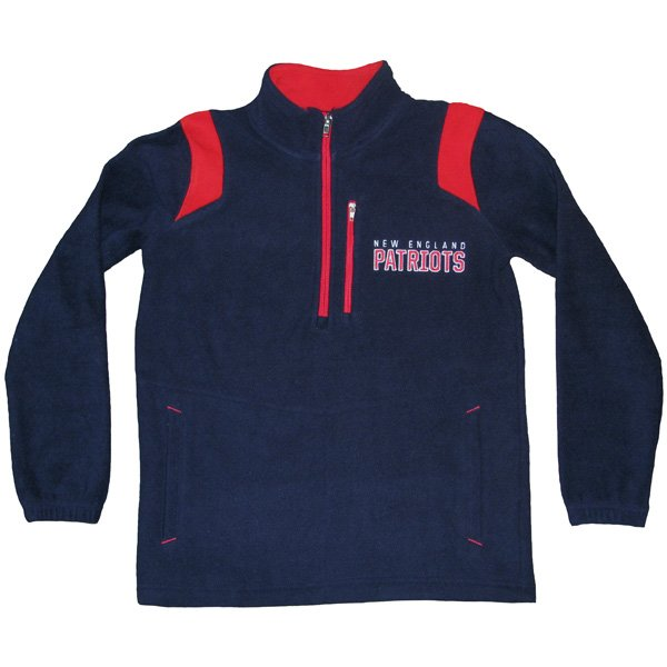 Youth 1/4 Zip Microfleece Jacket-Navy/Red