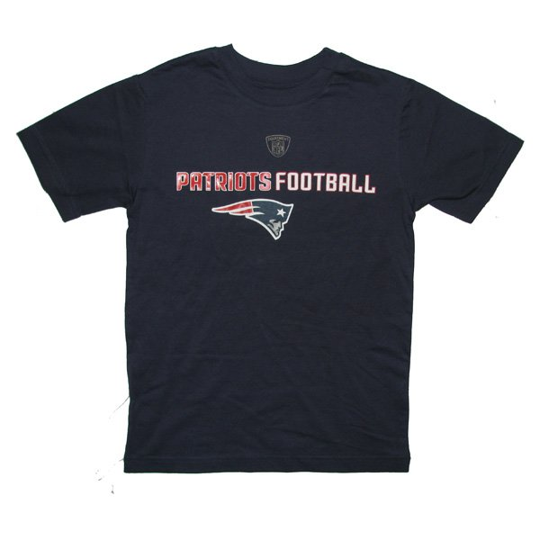 Youth Line/Football Tee-Navy
