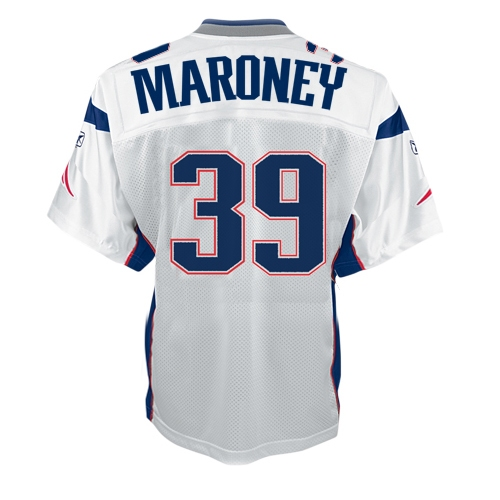 Youth Maroney Away Replica Jersey-White