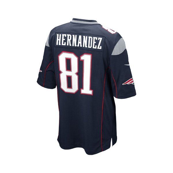 Youth Nike Aaron Hernandez Game Jersey-Navy