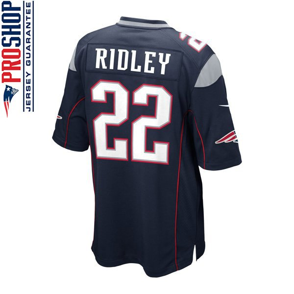 Youth Nike Stevan Ridley Game Jersey-Navy