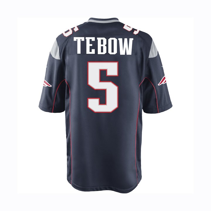 Youth Nike Tim Tebow Game Jersey-Navy